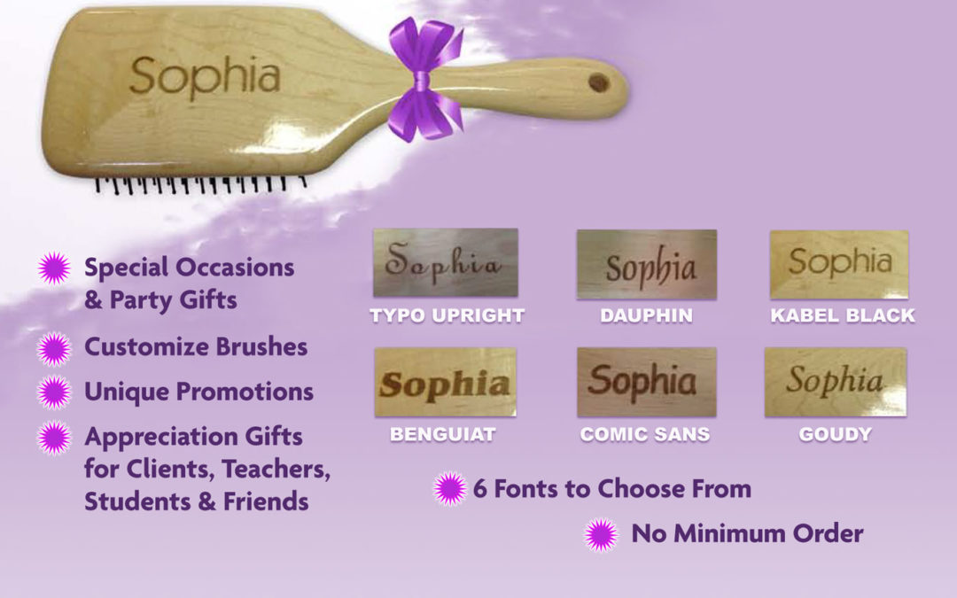 Personalize Your Paddle Brush with Free Name Engraving
